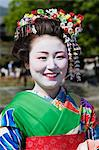 Portrait of Maiko, Arashiyama, Kyoto, Kyoto Prefecture, Kansai, Honshu, Japan Stock Photo - Premium Rights-Managed, Artist: Jeremy Woodhouse, Code: 700-03654475
