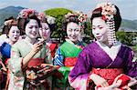 Group of Maiko Outdoors, Arashiyama, Kyoto, Kyoto Prefecture, Kansai, Honshu, Japan Stock Photo - Premium Rights-Managed, Artist: Jeremy Woodhouse, Code: 700-03654477
