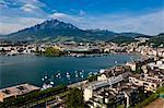 View of City and Lake Lucerne, Lucerne, Switzerland Stock Photo - Premium Rights-Managed, Artist: R. Ian Lloyd, Code: 700-03654566