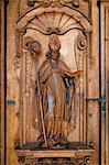 Detail of Door, Hof Church, Lucerne, Switzerland Stock Photo - Premium Rights-Managed, Artist: R. Ian Lloyd, Code: 700-03654591