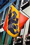 Close-up of Bernese Flag, Bern, Switzerland Stock Photo - Premium Rights-Managed, Artist: R. Ian Lloyd, Code: 700-03654621