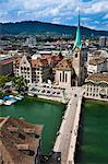 Fraumunster Abbey, Zurich, Switzerland Stock Photo - Premium Rights-Managed, Artist: R. Ian Lloyd, Code: 700-03654629