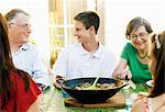 Famiily dinner Stock Photo - Premium Royalty-Free, Artist: iRepublic, Code: 698-03657682