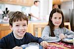 Kids in kitchen Stock Photo - Premium Royalty-Freenull, Code: 698-03658122
