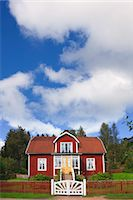 Red Wooden House, Katthult, Gibberyd, Smaland, Sweden Stock Photo - Premium Rights-Managednull, Code: 700-03659281