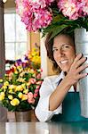small business owner/florist in shop Stock Photo - Premium Royalty-Freenull, Code: 621-03659373