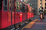 San Diego Trolley at Station, San Diego, California,  USA Stock Photo - Premium Rights-Managed, Artist: Damir Frkovic, Code: 700-03659304