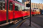 San Diego Trolley Leaving Station, San Diego, California, USA Stock Photo - Premium Rights-Managed, Artist: Damir Frkovic, Code: 700-03659306