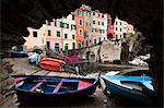 Rowboats, Riomaggiore, Cinque Terre, Province of La Spezia, Ligurian Coast, Italy Stock Photo - Premium Rights-Managed, Artist: R. Ian Lloyd, Code: 700-03660067