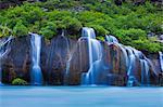 Hraunfossar Waterfalls, Borgarfjörður, Western Iceland