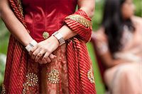 Close-Up of Hindu Bride Wearing Traditional Gown Stock Photo - Premium Rights-Managednull, Code: 700-03665605