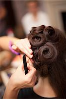 special moment - Bride Having Hair Done Stock Photo - Premium Rights-Managednull, Code: 700-03665609