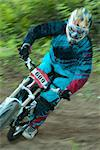 Downhill Bike Racer, Haliburton, Ontario, Canada Stock Photo - Premium Rights-Managed, Artist: Peter Christopher, Code: 700-03665634