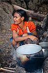 Woman Cooking, Waihola Village, Sumba, Indonesia