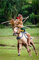 Pasola Warrior, Sumba, Indonesia Stock Photo - Premium Rights-Managednull, Code: 700-03665828