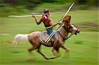 Pasola Warrior, Sumba, Indonesia Stock Photo - Premium Rights-Managednull, Code: 700-03665829