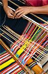 Weaving Ikat Cloth, Sumba, Indonesia