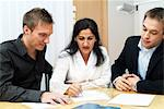 Three colleagues working together Stock Photo - Premium Royalty-Free, Artist: Blend Images, Code: 698-03670469