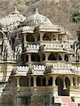 The exterior of the main carved marble Jain temple at Ranakpur, Rajasthan, India, Asia Stock Photo - Premium Rights-Managed, Artist: Robert Harding Images, Code: 841-03672216