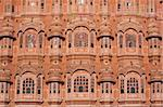 The ornate pink facade of the Hawa Mahal (Palace of the Winds), Jaipur, Rajasthan, India, Asia Stock Photo - Premium Rights-Managed, Artist: Robert Harding Images, Code: 841-03672245