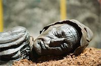 prehistoric - Preserved body of the Tollund Man, hung to death in 300 BC, Silkeborg Museum, Silkeborg, Jutland, Denmark, Scandinavia, Europe Stock Photo - Premium Rights-Managednull, Code: 841-03673028