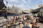 Outdoor cafe, Grote Markt, Antwerp, Flanders, Belgium, Europe Stock Photo - Premium Rights-Managed, Artist: Robert Harding Images, Code: 841-03673042