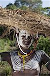 Young Mursi woman, Omo Valley, Ethiopia, Africa