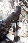 Mursi girl, Omo Valley, Ethiopia, Africa
