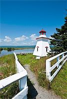 Anderson Hallow Lighthouse in Riverside-Albert, New Brunswick, Canada, North America Stock Photo - Premium Rights-Managednull, Code: 841-03675039