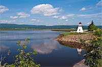 Anderson Hallow Lighthouse in Riverside-Albert, New Brunswick, Canada, North America Stock Photo - Premium Rights-Managednull, Code: 841-03675041