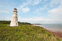 Lighthouse at Cape Jourimain National Wildlife Area, New Brunswick, Canada, North America Stock Photo - Premium Rights-Managednull, Code: 841-03675046