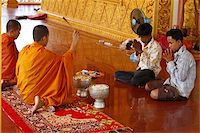 Buddhist ceremony in a Cambodian pagoda, Siem Reap, Cambodia, Indochina, Southeast Asia, Asia Stock Photo - Premium Rights-Managednull, Code: 841-03676041