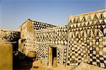 Painted mud house in Tangassogo Village, near the border of Ghana, Burkina Faso, West Africa, Africa Stock Photo - Premium Rights-Managed, Artist: Robert Harding Images, Code: 841-03677136