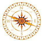 Computer artwork of a compass rose. Stock Photo - Premium Royalty-Freenull, Code: 679-03680275