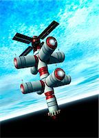Space hotel, computer artwork. Stock Photo - Premium Royalty-Freenull, Code: 679-03680925