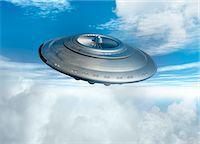 spaceship - UFO, computer artwork. Stock Photo - Premium Royalty-Freenull, Code: 679-03681144