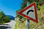 Road Sign on Mountain Road, Valle Maira, Italy Stock Photo - Premium Rights-Managed, Artist: oliv, Code: 700-03681939