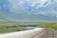 Alaska Pipeline, Brooks Range Mountains, Alaska, USA Stock Photo - Premium Royalty-Freenull, Code: 600-03682006