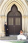 Bride and Groom, Toronto, Ontario, Canada Stock Photo - Premium Royalty-Free, Artist: Ikonica, Code: 600-03682162