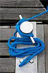 Close-up of Rope and Cleat, Avik, Aust-Agder, Norway Stock Photo - Premium Rights-Managed, Artist: photo division, Code: 700-03682102