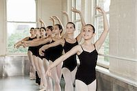 Ballerinas in pose Stock Photo - Premium Royalty-Freenull, Code: 614-03684429