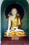 Sitting Buddha Statue, Shwedagon Pagoda, Rangoon, Myanmar