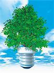 Tree in Lightbulb Base Stock Photo - Premium Rights-Managed, Artist: Anna Huber, Code: 700-03685834