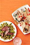 Steak with Pesto Pasta and Mushroom and Spinach Crepes Stock Photo - Premium Royalty-Free, Artist: Jodi Pudge, Code: 600-03686088