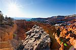 Overview of The Hoodoos, Bryce Canyon National Park Badlands, Utah, USA