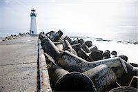 Walton Lighthouse, Santa Cruz, California, USA Stock Photo - Premium Royalty-Freenull, Code: 600-03686122