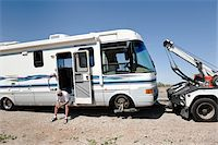 Man with Broken Down RV and Tow Truck in towed in Desert, near Yuma, Arizona, USA Stock Photo - Premium Rights-Managednull, Code: 700-03686142