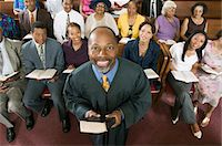 Preacher and Congregation, portrait, high angle view Stock Photo - Premium Royalty-Freenull, Code: 693-03686348