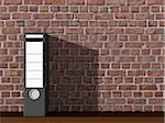 Binder Against Brick Wall Stock Photo - Premium Rights-Managed, Artist: Anna Huber, Code: 700-03692002