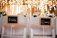 special moment - Seats Reserved for the Bride and Groom Stock Photo - Premium Royalty-Freenull, Code: 600-03692115